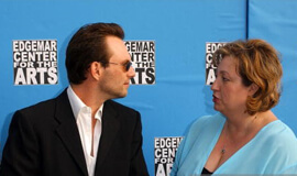 Christian Slater and Michelle Danner